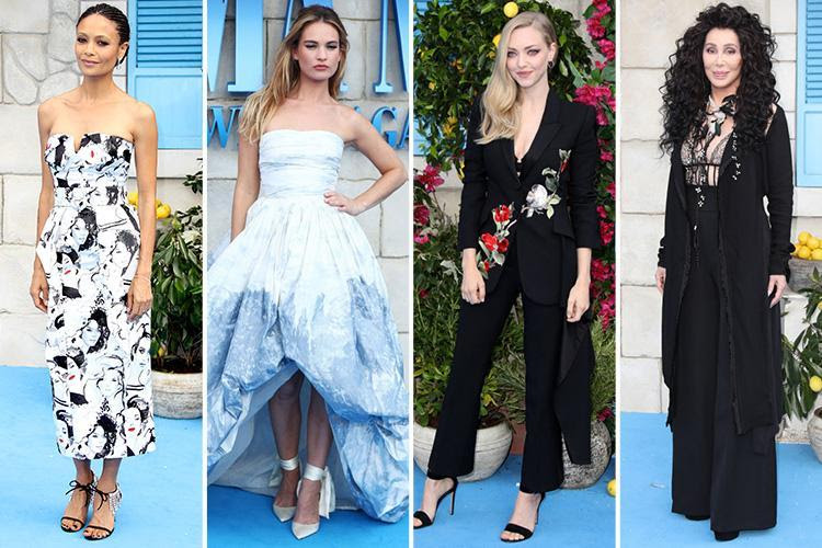 cher amanda seyfried and lily james lead the glam in