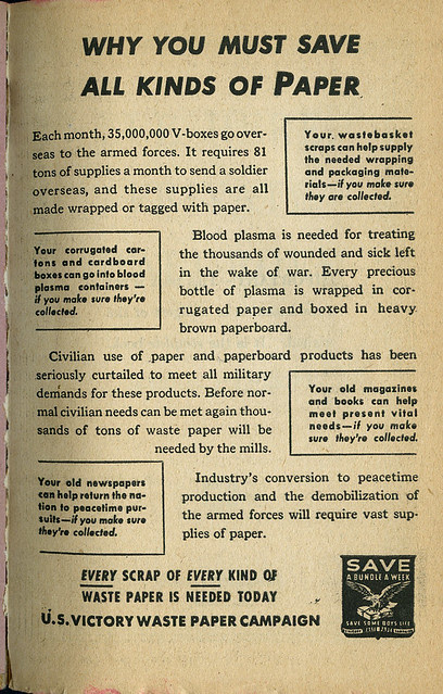 paper drive WW2_tatteredandlost