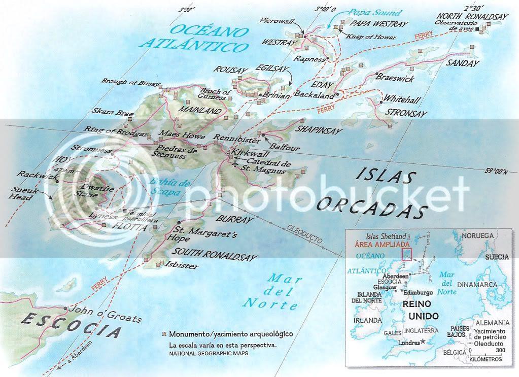 Resultado de imagen de mapa islas orcadas