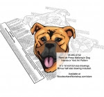 Perro de Presa Mallorquin Dog Scrollsaw Intarsia Woodworking Pattern - fee plans from WoodworkersWorkshop® Online Store - Perro de Presa Mallorquin Dog,pets,animals,dog breeds,yard art,painting wood crafts,scrollsawing patterns,drawings,plywood,plywoodworking plans,woodworkers projects,workshop blueprints