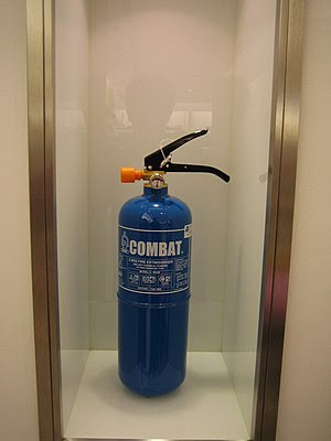 Fire extinguisher. Taken at Zara in Orchard