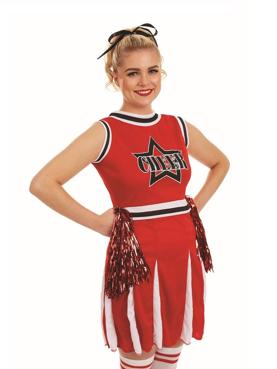 adult red cheerleader costume  fs4244  fancy dress ball
