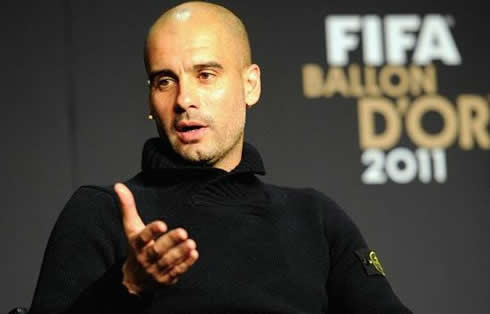 Guardiola interview to FIFA, at the Balon d'Or 2011-2012 gala event