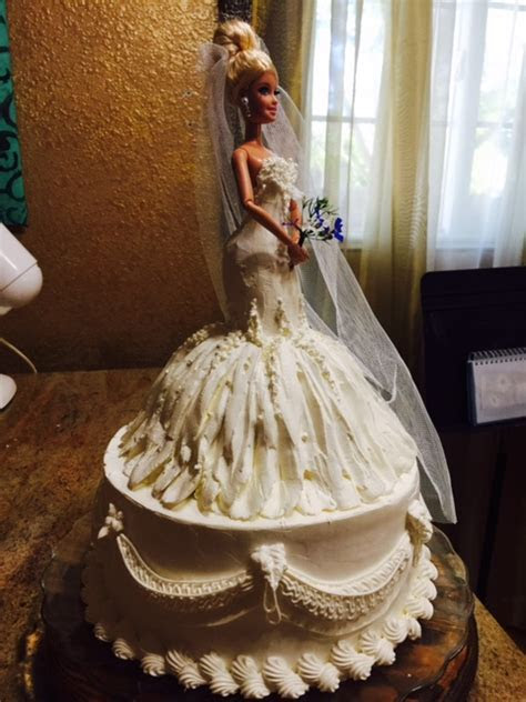 Frosted Art: Wedding Barbie Doll Cake  Cake Decorating