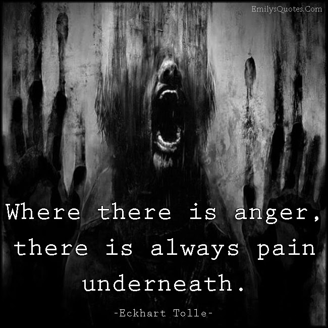 Where There Is Anger There Is Always Pain Underneath Popular