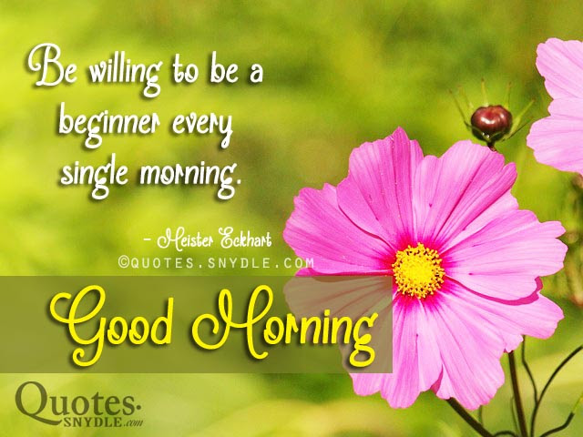 Inspirational Good Morning Quotes With Picture Quotes And Sayings