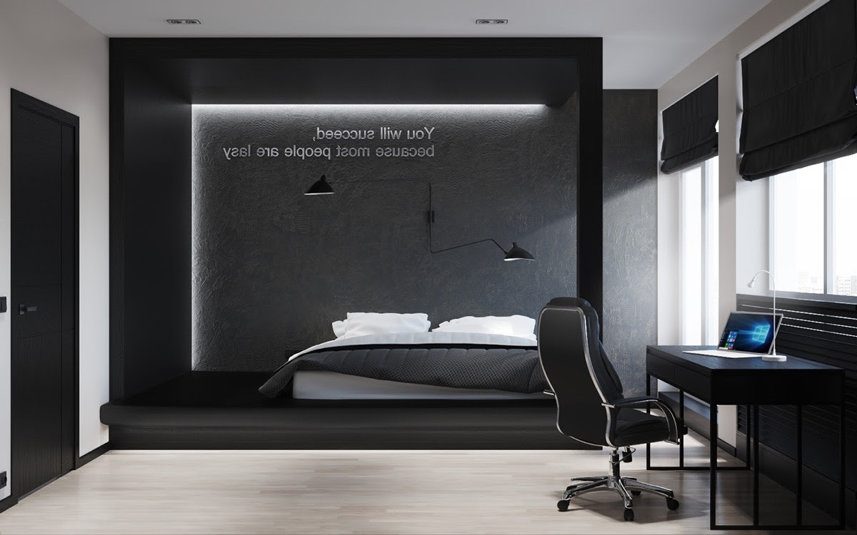 White Black And Grey Bedroom Home