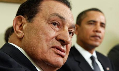 Hosni Mubarak and Barack Obama in Washington