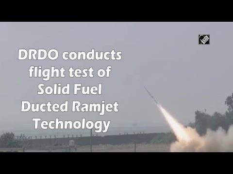WATCH: DRDO Conducts Flight Test of Solid Fuel Ducted Ramjet Missile