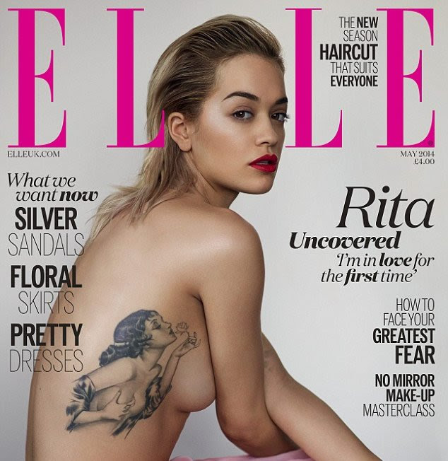 Rita Ora Strips For Sexy Elle Cover Reveals Meaning Behind Pinup
