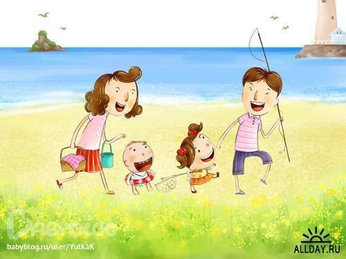 перюсалс: раскраска на тему моя семья