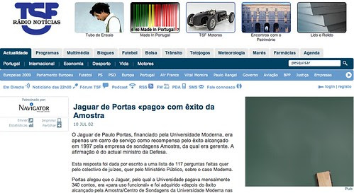 O Jaguar de Paulo Portas