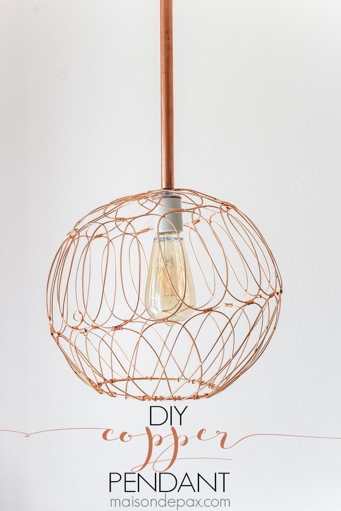diy copper pendant-sign