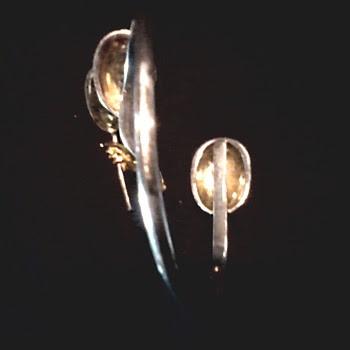 "Sergio Bustamonte Silver and Gold "" Masquerade"" Bracelet / Circa 20th Century"