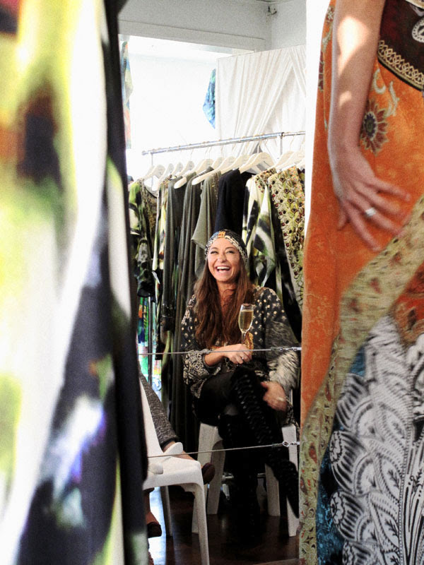 Camilla AW 11 Woodstock Collection, Camilla Franks enjoying her AW 11 show.  C_600_1900