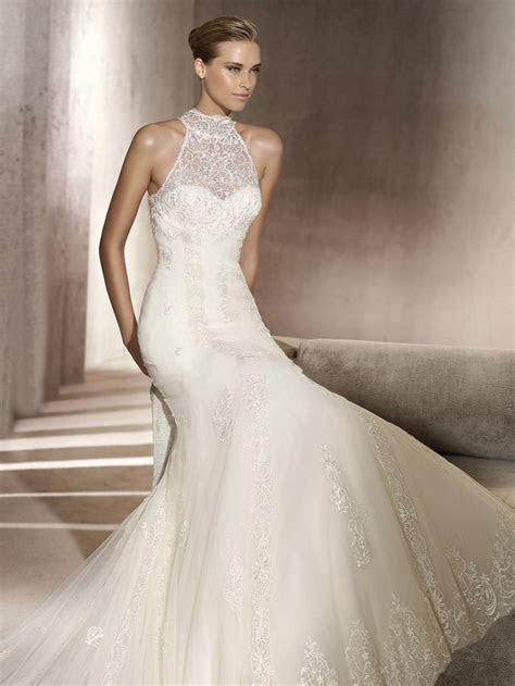 fit and flare wedding dresses   Lace Material Wedding