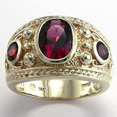 men  garnet  diamond rings wedding promise diamond