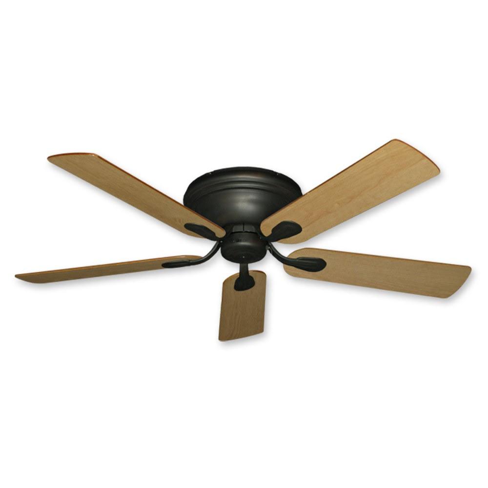 Flush Mount Ceiling Fan - 52 Inch Stratus in Oil Rubbed ...