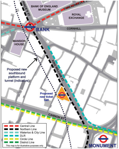 Bank Tube Station Proposals