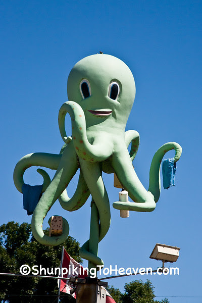Ozzie the Octopus at Park Street Octopus Car Wash, Madison, Wisconsin