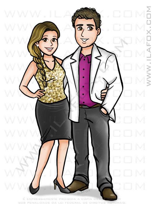 caricatura desenho casal, caricatura casal, caricatura bonita, by ila fox