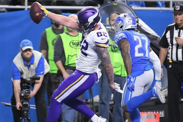 0f14749d221 Rudolph: Stefanski 'definitely helped' balance Vikings offense