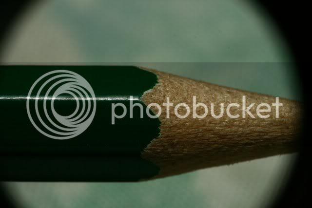 Macro shot of pencil