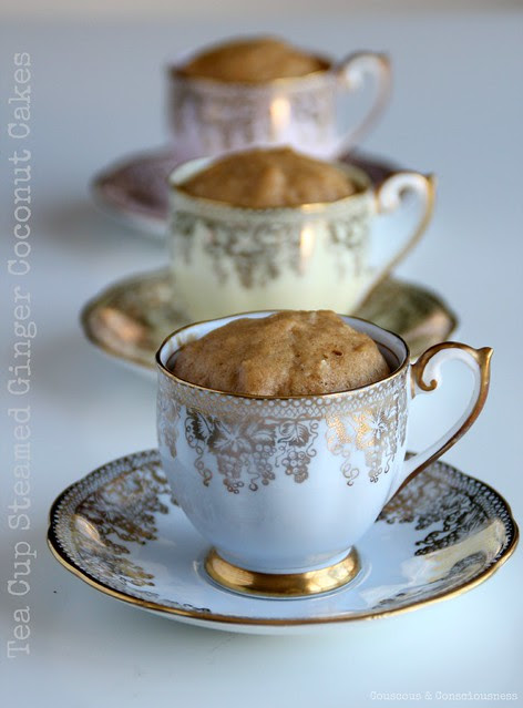 Tea Cup Steamed Ginger Coconut Cakes 1