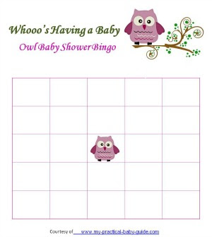 Free Baby Shower Bingo Cards - My Practical Baby Shower Guide