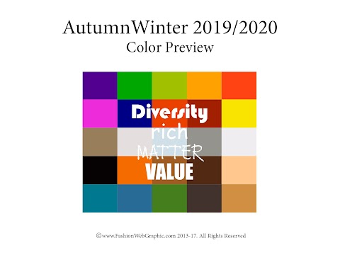 Forecast 2019 Color Trends 2020