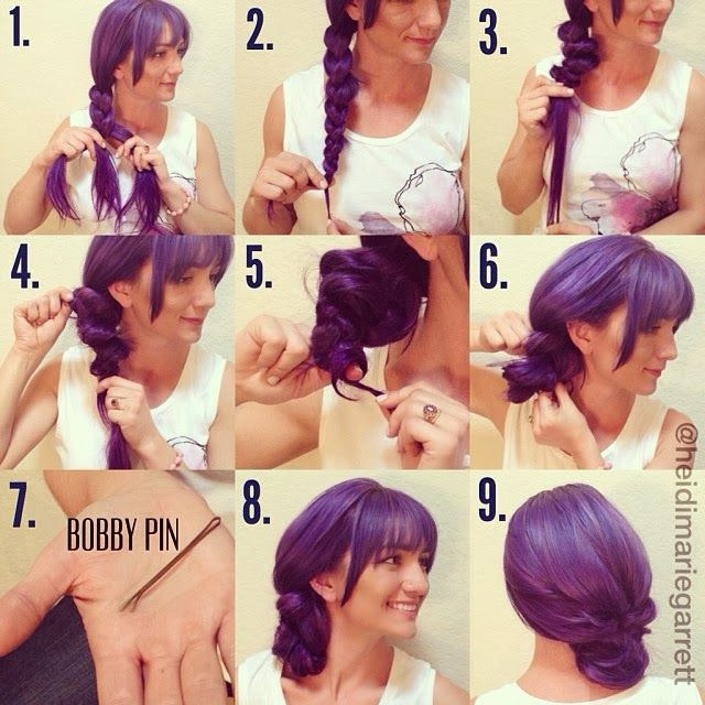 The step-by-step for an easy side updo
