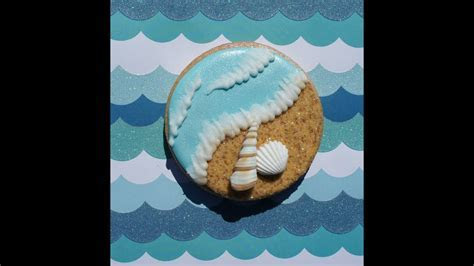 Cookie decorating tutorial   Beach themed cookies   YouTube