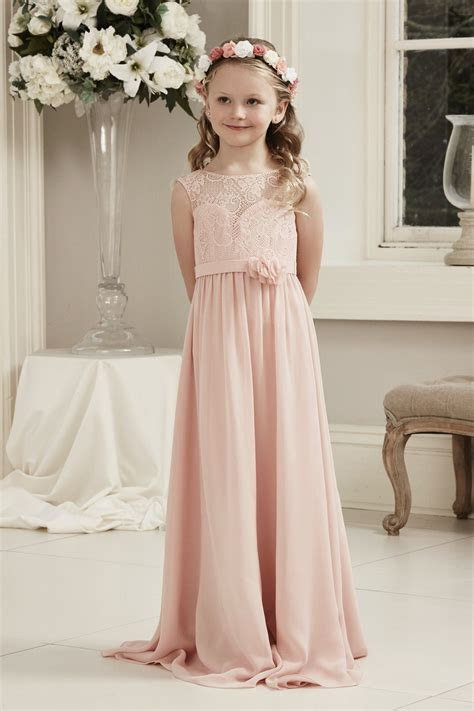 Alexia Designs style 51: Long chiffon dress with lace