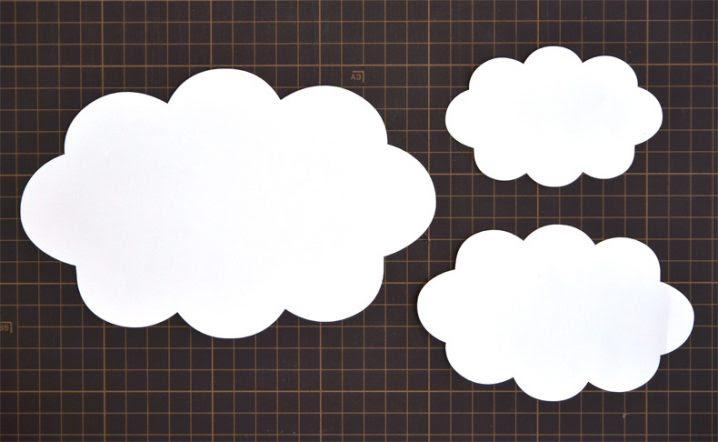壁面飾り無料ダウンロード型紙で雲の壁面飾りを作ってみた