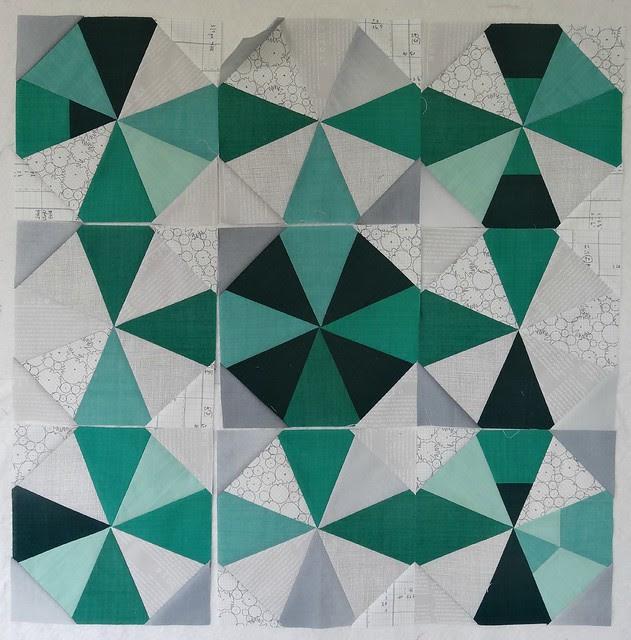 Emerald quilt challenge beginnings