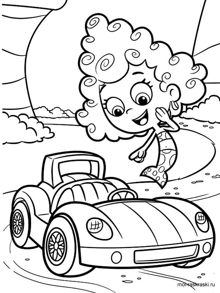 Bubble Guppies coloring pages. Free Printable Bubble ...
