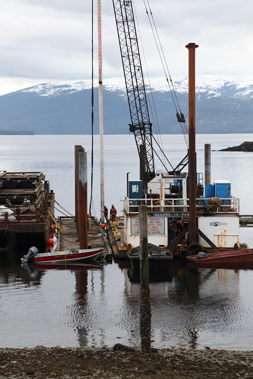 dock work in Kasaan Harbor, Kasaan, Alaska