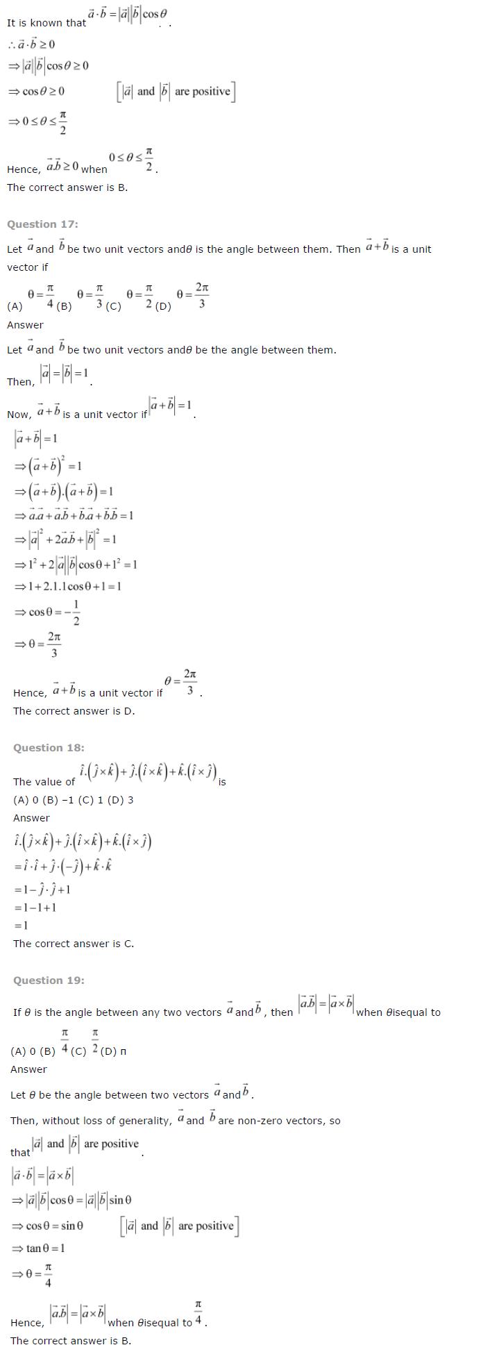 NCERT Solutions for Class 12 Maths Chapter 10 Vector Algebra ex10.8
