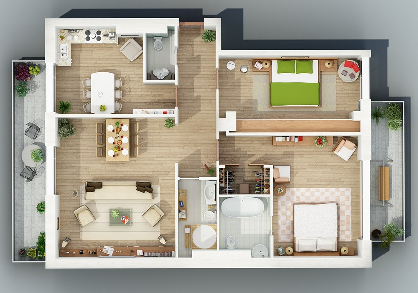 Overhead Shot Interior Design Ideas