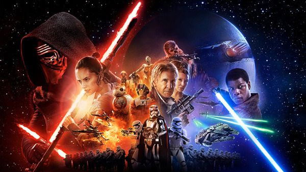 An alternate version of the theatrical movie poster for STAR WARS: THE FORCE AWAKENS.