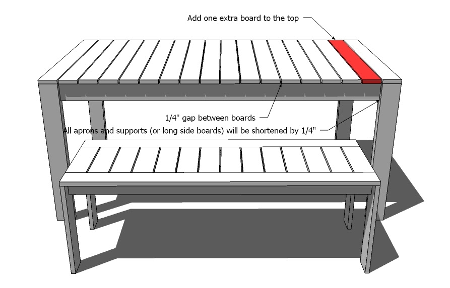 Ana White   Build a Simple Outdoor Dining Table   Free and Easy ...