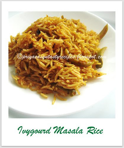 Ivygourd Masala Rice