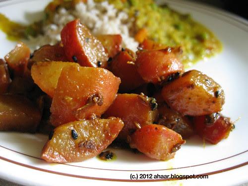 Mulor Tarkari (Radish with Bengali 5-spice)