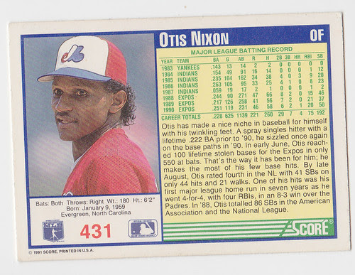 Otis Nixon back