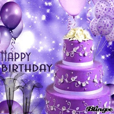 Purple Cake Happy Birthday Pictures, Photos, and Images