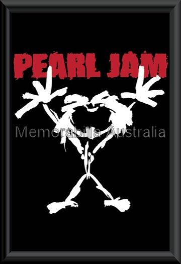 Pearl Jam Stickman Poster Framed L P Music Music