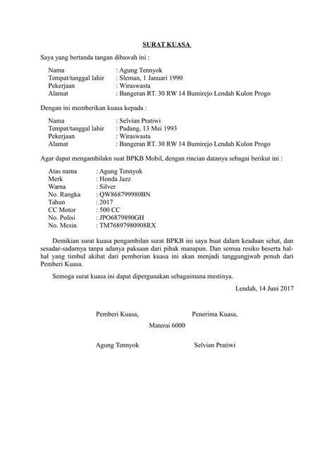 Contoh Surat Kuasa Pengambilan Dokumen Doc - Kumpulan ...