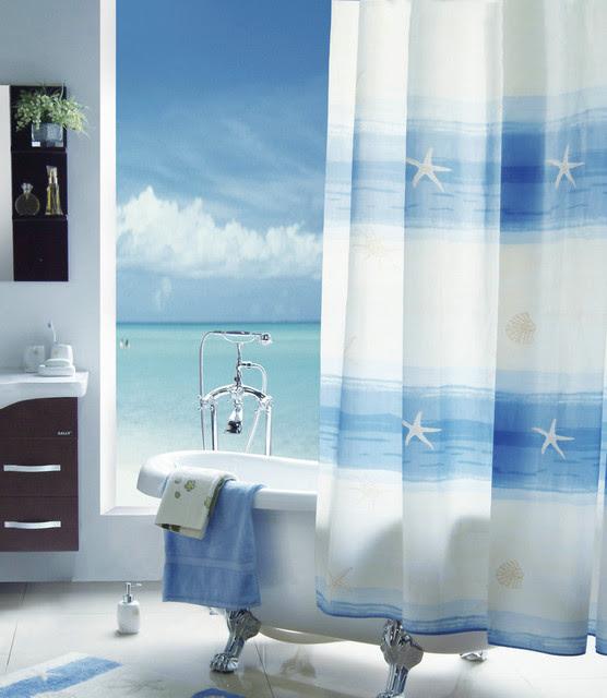 Mediterranean Shower Curtains: Find Bathroom Shower Curtain