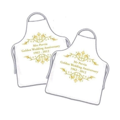 50th Wedding Anniversary Aprons   The Personalised Gift Shop