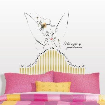 Tinkerbell Headboard Peel & Stick Giant Wall Decal.